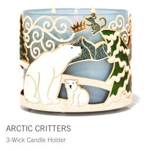 Arctic critters 3 wick candle holder